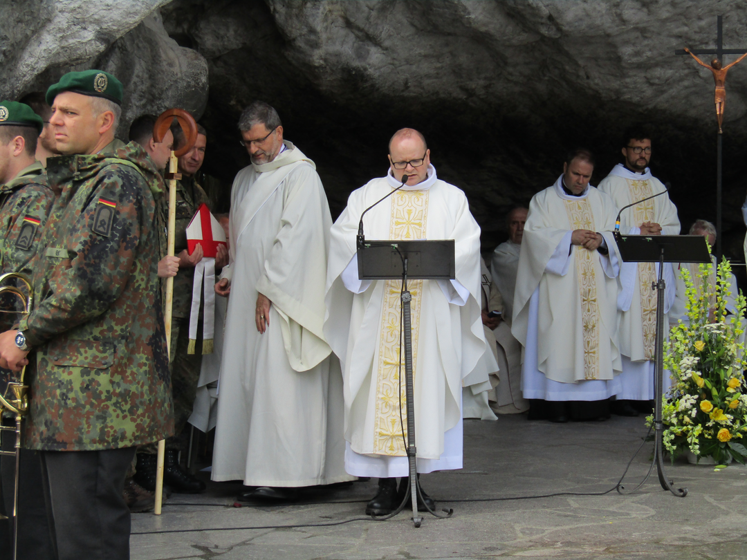 Moderator Oliver Hartl in Lourdes