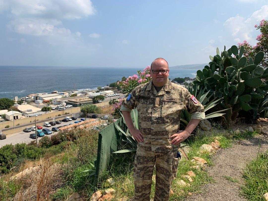 Prior und Pfarrmoderator H. Oliver Hartl auf Auslandseinsatz bei österreichischen Soldaten im Libanon